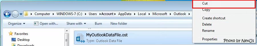 Outlook Data File Path