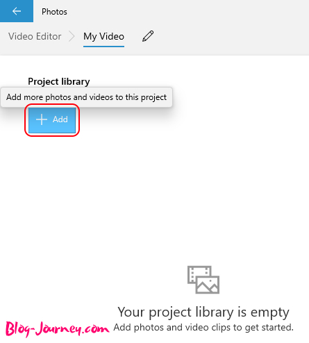 Add photos or videos