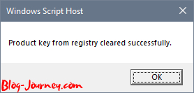 Product Key cleared from registry